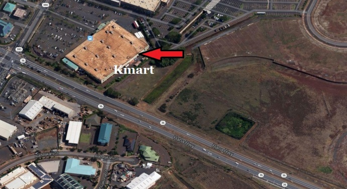 The area where the fire occurred. Modified Google Maps image.