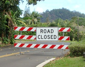 East Maui road closure. File photo by Wendy Osher.