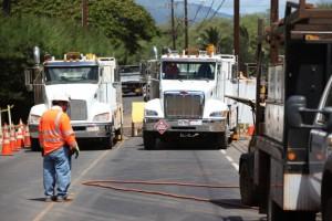 South Kīhei Road repair work in 2013. Photo courtesy Kevin John Olson Photography.