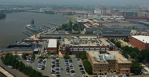 WASHINGTON (Sept. 16, 2013) An undated file photo of an aerial view of the Washington Navy Yard. (US Navy photo/Released)