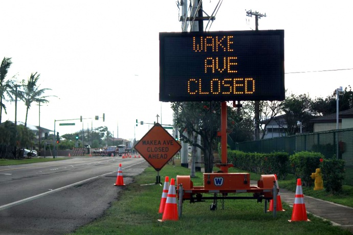 Wakea Avenue roadwork in September 2013. File photo by Wendy Osher.