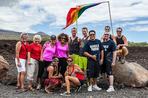 The 2012 Pride Hike. Photo courtesy Maui Pride