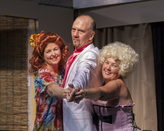 Sharyn Stone, Scott Newman, Barbara Sedano in Bermuda Avenue Triangle. Courtesy image