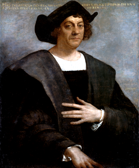 This is what Wikipedia says Christopher Columbus looked like. Courtesy image