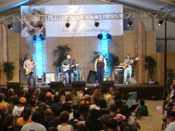 Maui Fair entertainment tent, file photo by Wendy Osher.