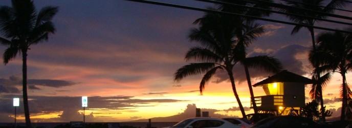 Sunset Maui Beach Kihei. Photo by Wendy Osher.