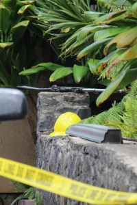 Police Arson/Suicide investigation into Waiehu home fire. Photo by Wendy Osher.