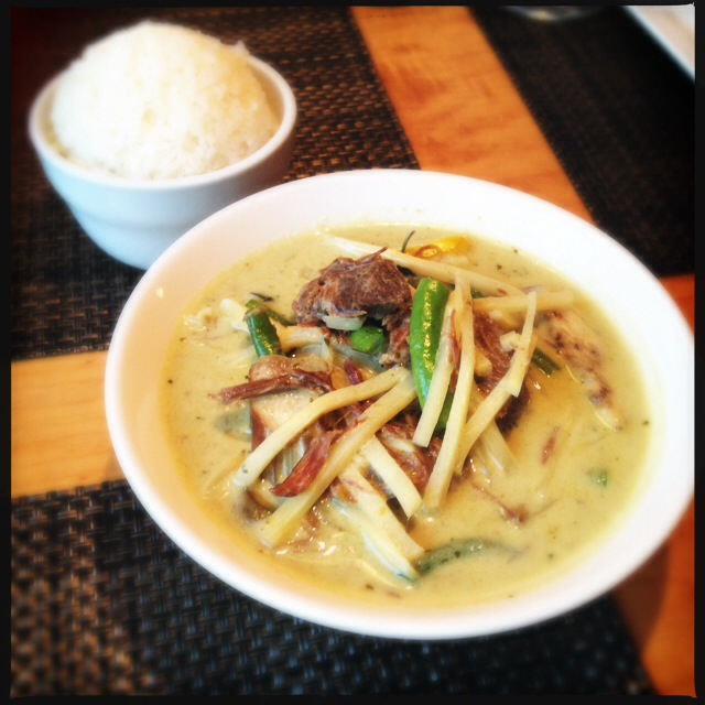 The Green Curry actually might change your life. Photo by Vanessa Wolf