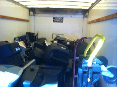 5A's truck loaded with electronic waste ready for recycling. Courtesy photo.