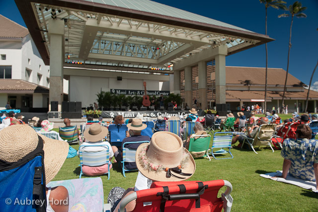 Bring those low-backed chairs, blankets and giant hats. Photo courtesy Aubrey Hord
