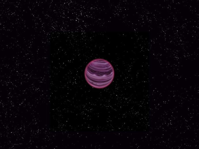Artist's conception of PSO J318.5-22. Credit: MPIA/V. Ch. Quetz