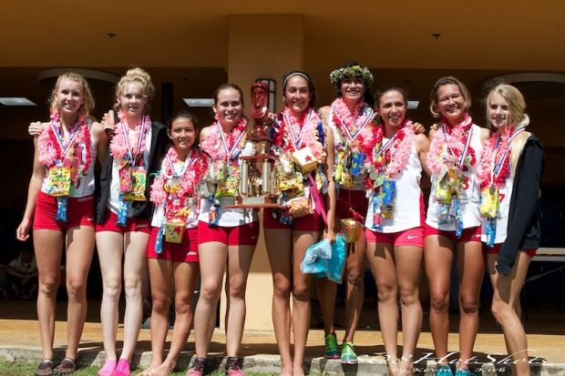 The Seabury Hall girls Division II state champion cross country team. Photo by 808HotShots / Kevin Kirk.
