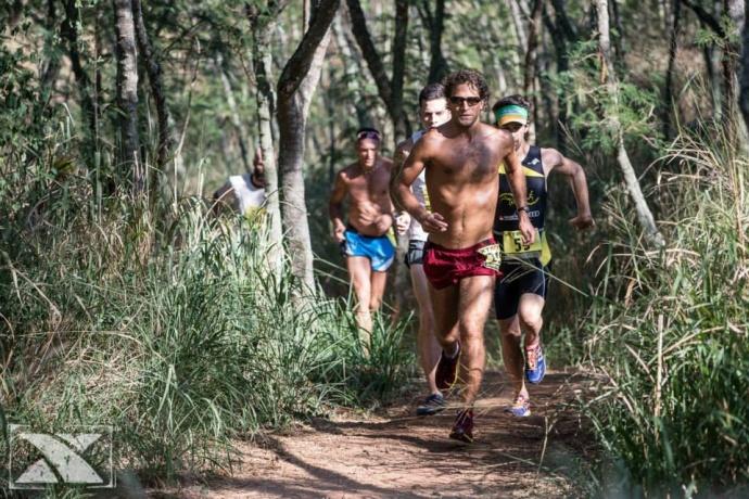 Wille Schefer was the men's 10K winner in 38 minutes, 22 seconds. Photo courtesy of XTERRA photos.