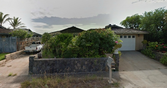 The Kakae Place home of the deceased prior to the fire. (Modified Google image.)