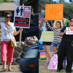 In the weeks leading up to the special session, individuals from both sides of the issue were observed waving signs along Kaʻahumanu Avenue in Kahului to drum up support for their respective opinions on the topic of gay marriage. Photos by Wendy Osher.