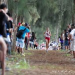 Seabury Hall's Dakota Grossman leads the girls race at the state cross country championships on Kauai last Friday, Oct. 25. Photo by 808HotShots / Kevin Kirk.