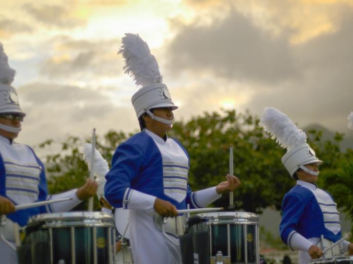 MHS Band at the Maui Fair Parade, Oct. 3, 2013. Photo courtesy Kerry Wasano / MHS Band - Tanaka Gallery.