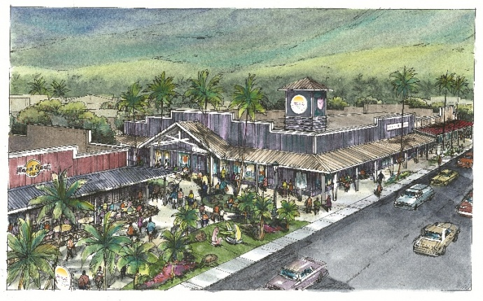 Outlets of Maui rendering, courtesy Maui Visitors Bureau.