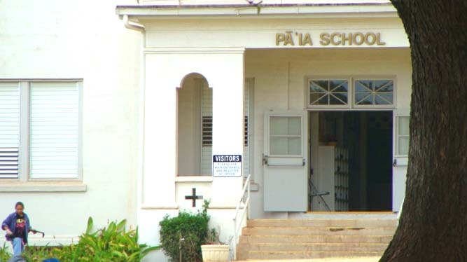 Pāʻia School, file photo by Wendy Osher.