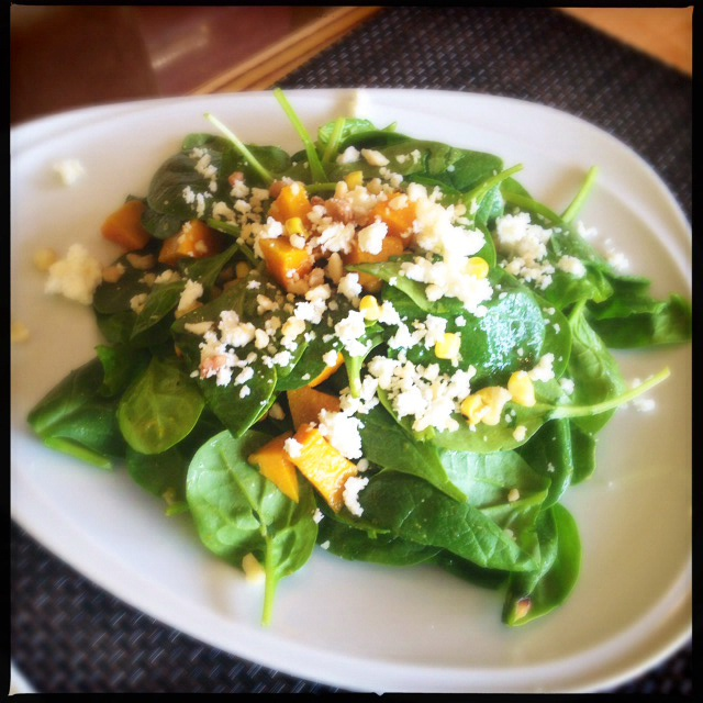 The Roasted Pumpkin Salad. Photo by Vanessa Wolf