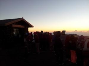 Sunrise at Haleakalā, Oct. 17, 2013. Photo courtesy Haleakalā National Park.
