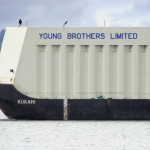 Young Brothers barge, file photo by Wendy Osher.