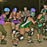 """A moment from Maui Roller Girls """"2013 Battle of the Islands."""" Courtesy photo"""