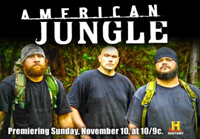 """In Hawaii, critics abound of the practices depicted in the television series """"American Jungle,"""" a promotional shot of which is shown."""