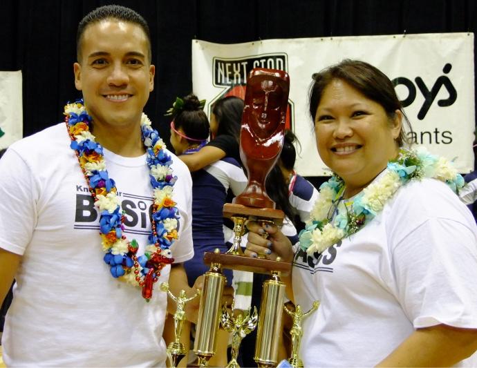 KS-Maui coaches Kealii Molina and Ann Saffery. Photo by Lokelani Patrick / KSM.