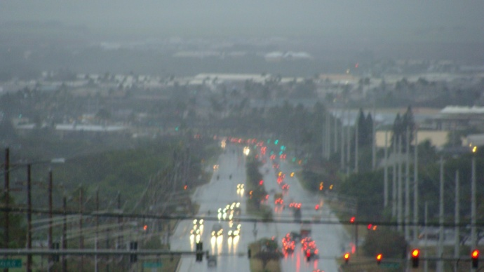 Kahului, Maui rain. File photo by Wendy Osher.