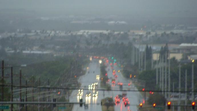 Kahului, Maui rain. File photo by Wendy Osher.