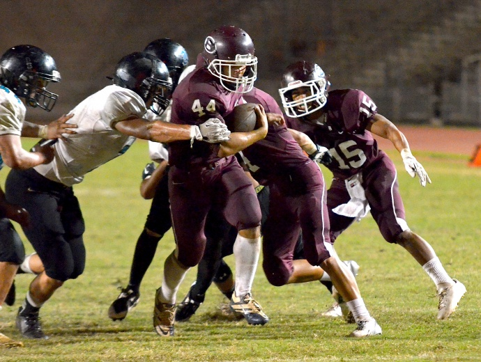 The Baldwin Bears are led by running back Dusty Flores, who rushed for 794 yards and five touchdowns. File photo by Rodney S. Yap.