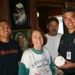 IBEW Sean Watanabe, Dorothy Kinores, IBEW Ray Shimabuku, Capt Paul Haake. Courtesy photo.