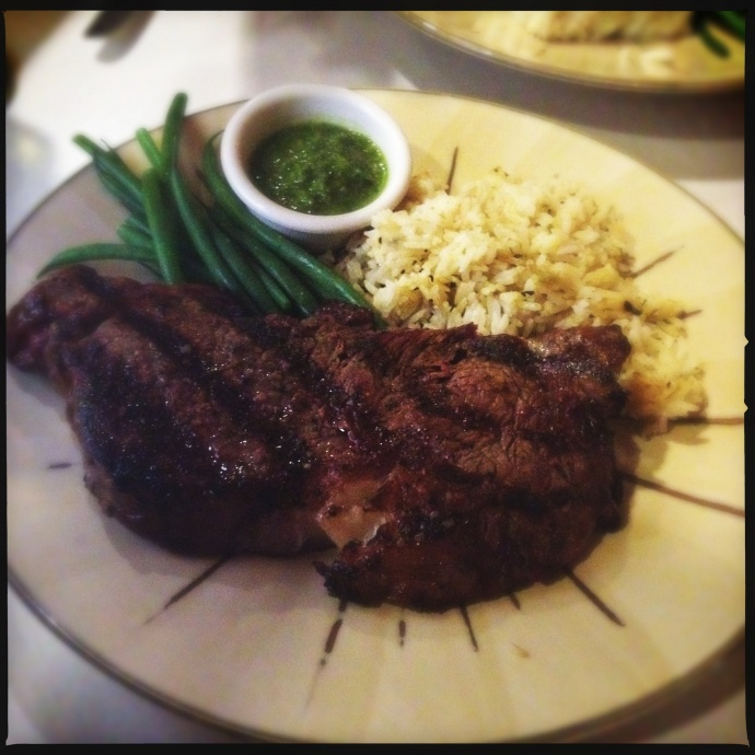 The Asian Marinated Grilled Steak is a beast. Photo by Vanessa Wolf