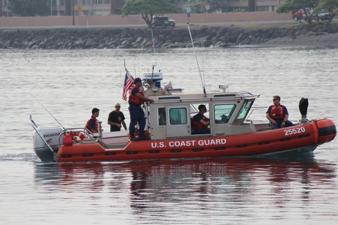 Coast Guard rescue: Kahului, Maui. Photo by Wendy Osher.