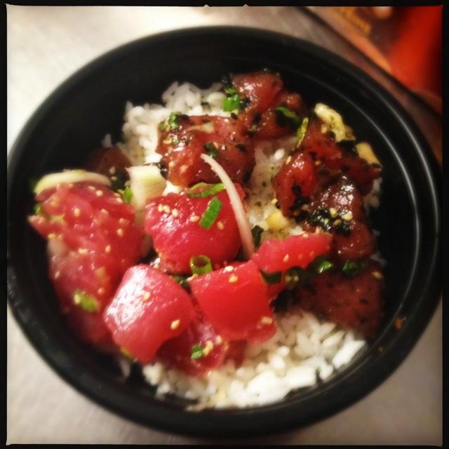 A Poke Bowl with half Maui Onion and half Furikake. Photo by Vanessa Wolf