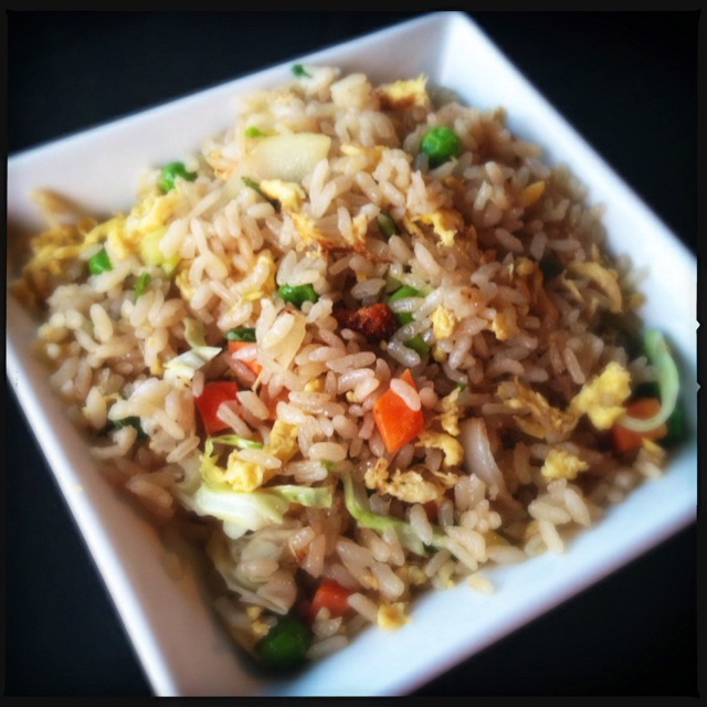 King's Fried Rice. Again, we de-styrofoam containered and staged all this. Photo by Vanessa Wolf