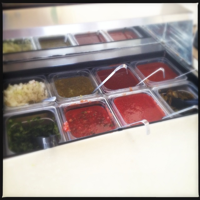 The salsa bar is where it's at. Photo by Vanessa Wolf