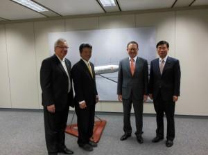 Lt. Gov Tsutsui and Tourism Officials. Courtesy photo.