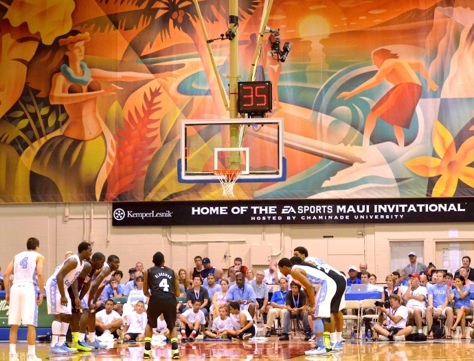 The 2012 Maui Invitational Basketball Tournament at Lahaina Civic Center. File photo by Rodney S. Yap.