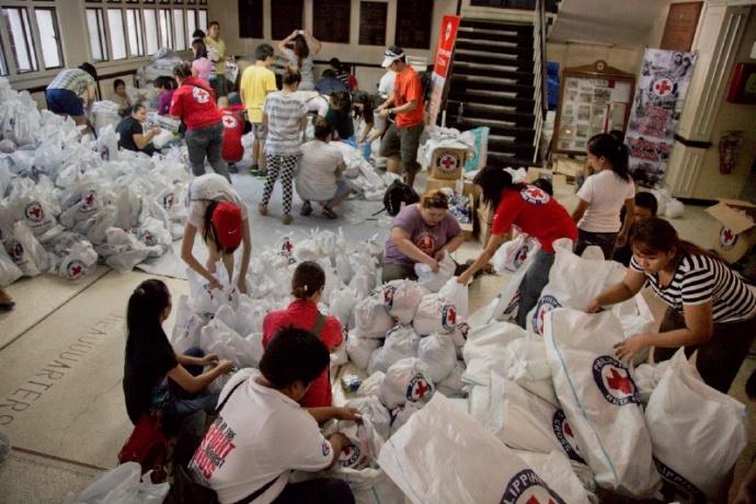Red Cross Typhoon Haiyan response. Photo courtesy Red Cross.