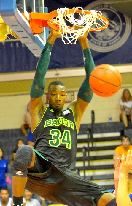 Baylor's Cory Jefferson throws down a second-half dunk against Chaminade on Monday. Jefferson finished with 15 points. Photo by Rodney S. Yap.
