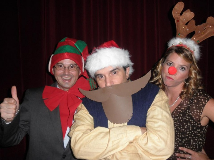 The cast of Every Christmas Story... features a very excited-looking Michael Pulliam. Courtesy photo