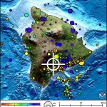 Hawaiʻi Island earthquake, Nov. 21, 2013. Map courtesy Pacific Tsunami Warning Center.