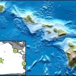 Map courtesy Pacific Tsunami Warning Center. Hawaiʻi Island earthquake, Nov. 11, 2013.