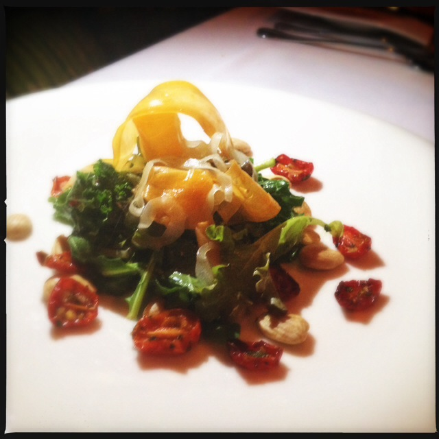 An organic winter greens salad from an earlier Makena event. Photo by Vanessa Wolf