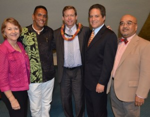 Maui Senators congratulate Lloyd A. Poelman on his confirmation to District Court Judge for the Second Circuit, located on Maui. Courtesy photo.
