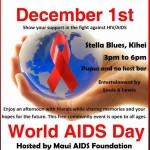 World AIDS Day, Maui event flyer.