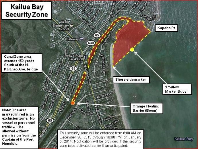 Kailua Bay Security Zone.