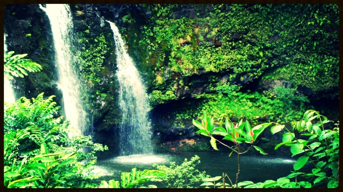 East Maui waterfall, file photo by Wendy Osher.